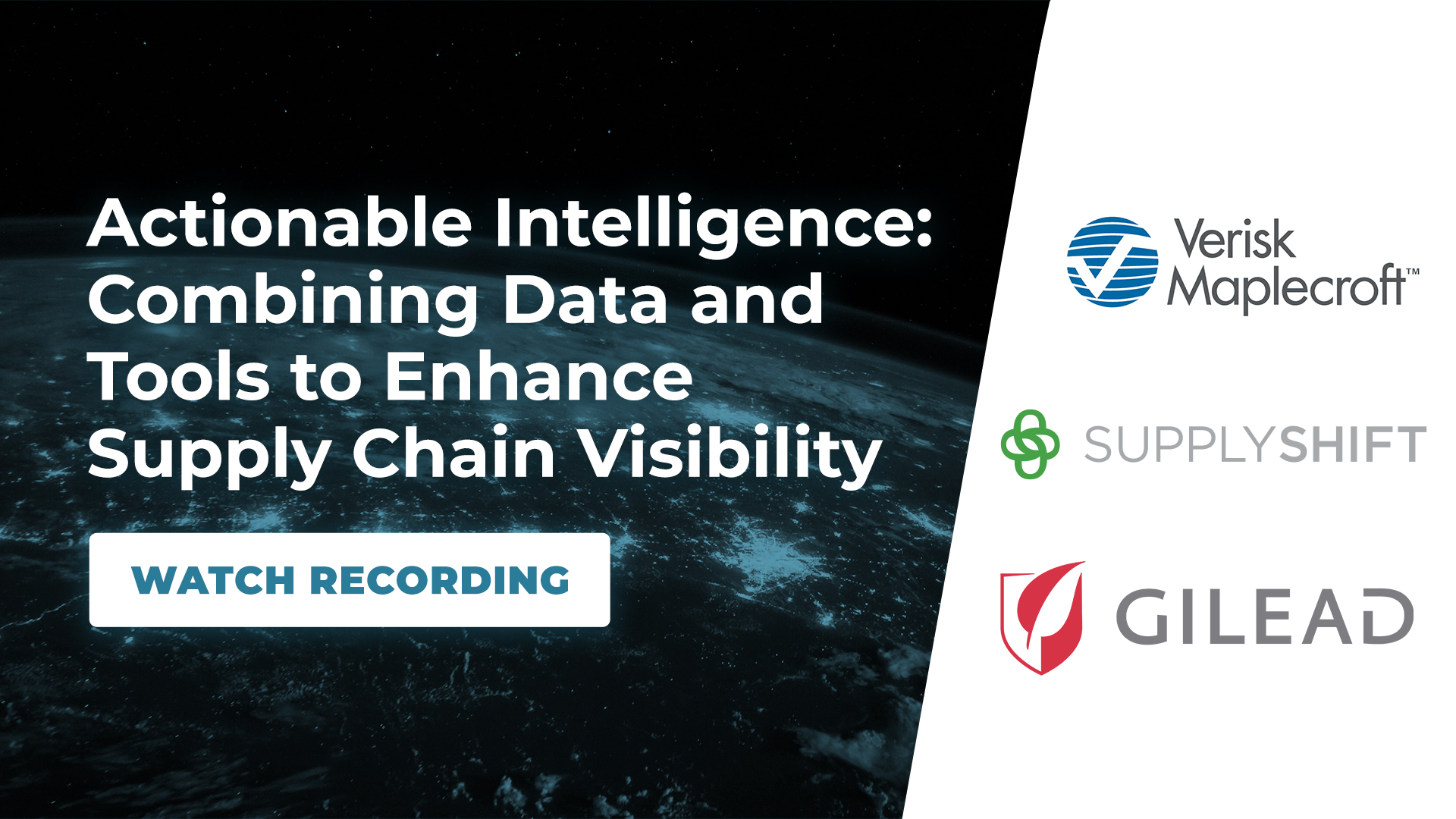 Actionable Intelligence: Combining data and tools to enhance supply chain visibility